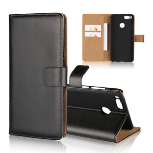 sports shoes 0436a 6f3e7 Details about Genuine Leather Wallet Flip Case Cover For Xiaomi Mi A1/5X  Redmi Note 3 4X Max 2