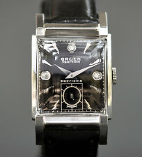 ALL ORIG! 1945 GRUEN Veri-Thin 430 SWISS 10K WHITE FG MEN DRESS WATCH DIAMONDS