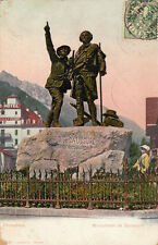 CHAMONIX MONT-BLANC monument de Saussure timbrée