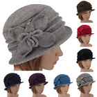Fashion Lady Women 100% Wool Butterfly Cloche Hat Felt Side Flanging Church Cap