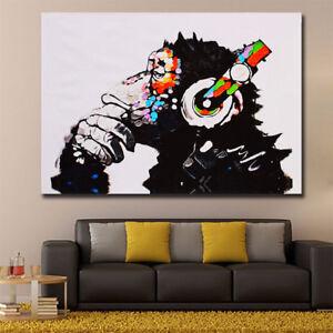 ND_ GN- Gorilla Music Fashion Modern Frameless Oil Painting Wall Art ...