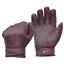 Goldtop Oxblood Purple Waxed Leather Mens Short Bobber Cruiser Motorcycle Gloves