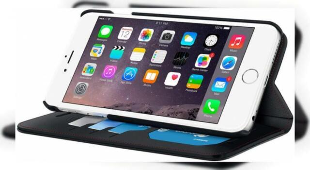 iPhone 6s Case, Apple Wallet rooCASE Prestige Leather PU Flip Case Folio...