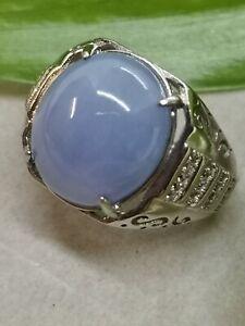 Ice Lavender Natural Jadeite Jade Ring/糯冰种紫罗兰天然翡翠戒指