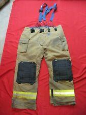 Mfg 2014 Morning Pride Fire Fighter Turnout Pants 50 X 35 Bunker Gear Suspenders