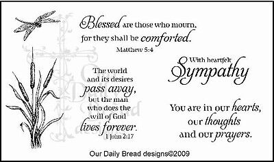 Our Daily Bread Designs Cling Stamp Set With Heartfelt Sympathy, Cattails B53