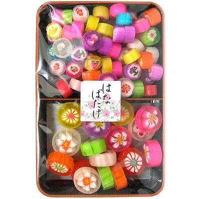 Kyomeika Japan Konpeito Japanese Sugar Plum Candy Deluxe Tray Set - Flower Field