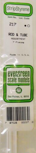 Evergreen Strip Styrene 217 Rod /& Tube Assortment.