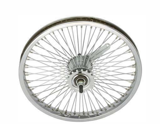 LOW RIDER LOWRIDER BIKE BICYCLE 16  72 Spoke REAR Coaster Wheel 14G Chrome