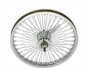 LOW-RIDER-LOWRIDER-BIKE-BICYCLE-16-034-72-Spoke-REAR-Coaster-Wheel-14G-Chrome