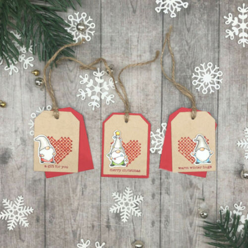 Christmas Winter Tags Box Words Cutting Dies Metal Stencil for DIY Scrapbooking