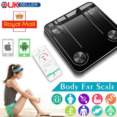 Bathroom Weight Digital Scales Smart Body Fat Muscle BMI Bluetooth Weighing Gym