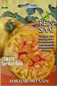 Tomate German Gold - Saatgut - Samen  Tomatensamen aus biologischem Anbau - Bio