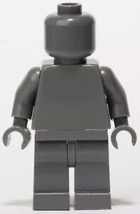 Dark Blue Gray Monochrome Minifigure Head Torso Arms Hands Legs genuin LEGO body