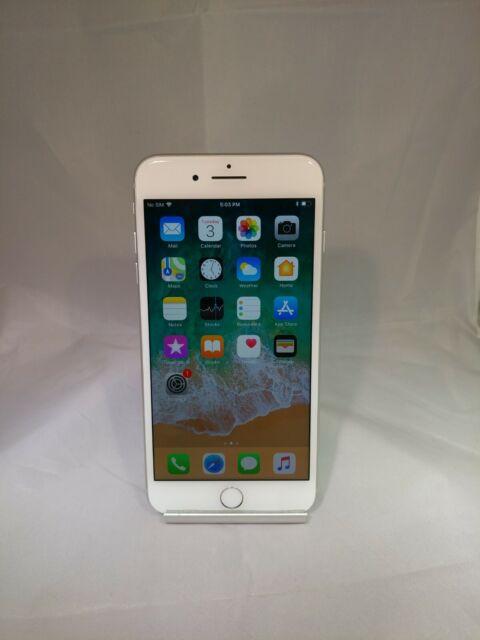 Apple iPhone 8 Plus 64GB Silver Verizon Unlocked Back Cracked Functional