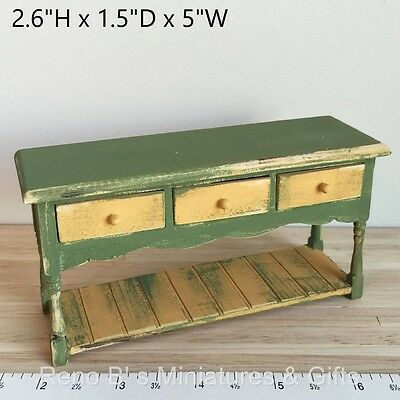 Dollhouse miniature Furniture 1:12 Farmhouse Dining Room Server Table NEW