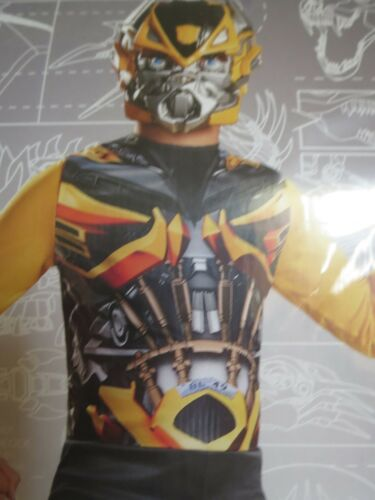 Kids  Transformers Bumblebee Jumpsuit Boys Halloween Costume S M L 6 7 8 10 12