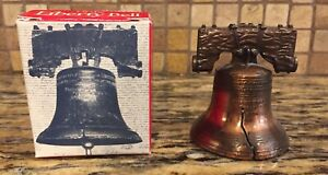 Vintage Liberty Bell Replica w Wood Base