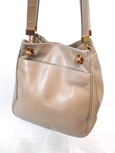 Bottega Veneta Marco Polo Khaki   Gold Coated Canvas Shoulder Bag Tote Beige a533ab6263ead