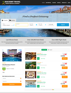 Automated Hotels & Travel Website - Work From Home Website Business For Sale