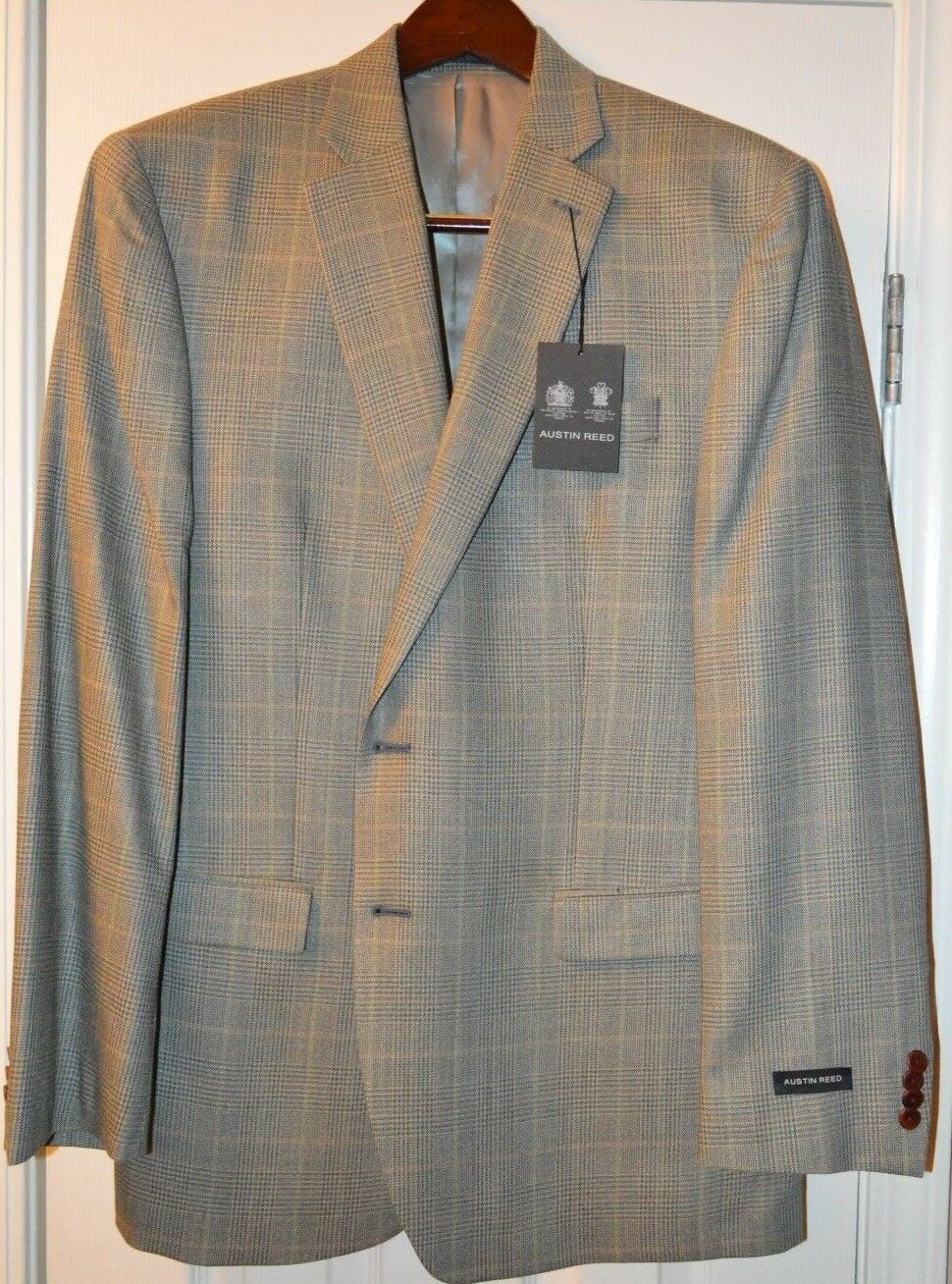 Austin Reed Men's bluee Green Silk and Wool Blazer Size 42L