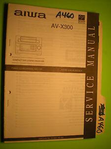 aiwa av x300 service manual original repair book stereo receiver cd rh ebay com Aiwa Home Stereo CD Player aiwa av-dv75 receiver manual