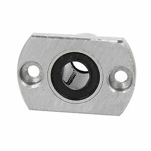 2pcs LMH8/10UU 8/10mm Inner Dia Oval Flange Linear Motion Bushing Ball Bearing