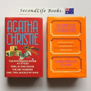 Details about x2 AGATHA CHRISTIE COLLECTIONS ~ Hardcover  A Miss Marple  Quintet  H