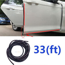33FT Rubber Car Exterior Door Edge Guard Scratch Protector Moulding Trim Strip