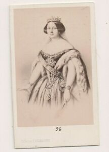 Vintage-CDV-Queen-Isabella-II-of-Spain-E-Desmaisons-Photo