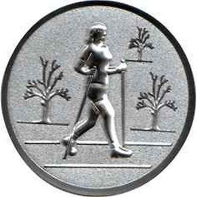 100 große Embleme Nordic Walking Damen gold  D:50mm (für Medaillen Pokale Pokal)
