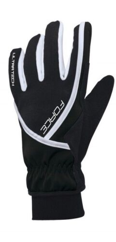Winter Gloves Cycling Force Ultra Tech Black-White Size XL