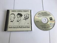 Carreras Domingo Pavarotti Favorite Arias The World's Tenors CD Sony