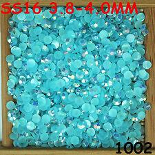 6000pcs SS16 Lake Blue Non Hotfix Crystal Acryl Rhinestone Round Beads Flatback