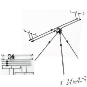 Daiwa-Cormoran-Pro-Carp-Gunpod-Rod-Pod-Carp-Rodpod-XL-amp-Tasche-Ruten-Staender-Ava