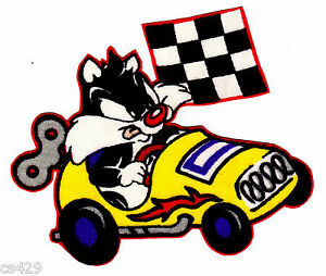 4 Baby Looney Tunes Babies Sylvester Race Car Character Fabric