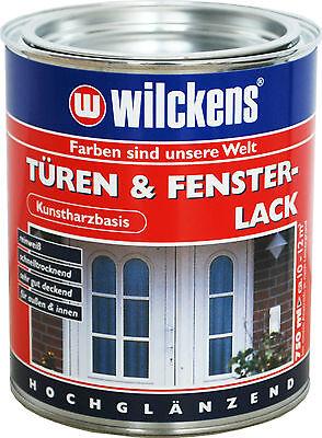 Kunstharz Türenlack & Fensterlack weiß 15,5€/L Möbellack Glanz Lack Wilckens