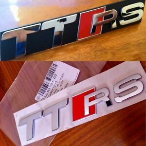 Pack Logos AUDI Ttrs 2009 - 2014 Grille And Trunk Tt 8J TTS Original Badge