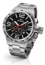 TW Steel Watch * CB7 Canteen 45MM Chronograph Black Dial Silver Steel COD PayPal
