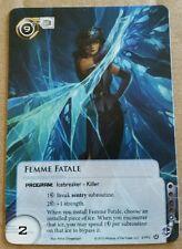 Android Netrunner - Femme Fatale Alternate Art Promo Card