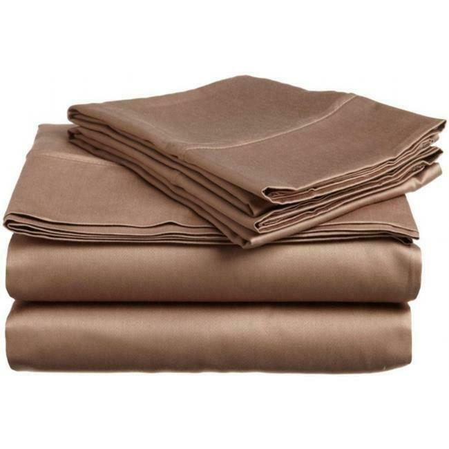 400 Thread Count Egyptian Cotton Queen Sheet Set Solid Taupe