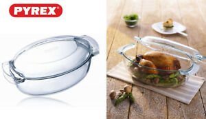 pyrex-glass-oven-roaster-casserole-lid-5-8L-made-in-FRANCE-X-corelle-corningware