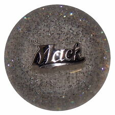 Mack Script Clear Glitter Custom Tractor Trailer Air Brake Dash Knob U.S Made
