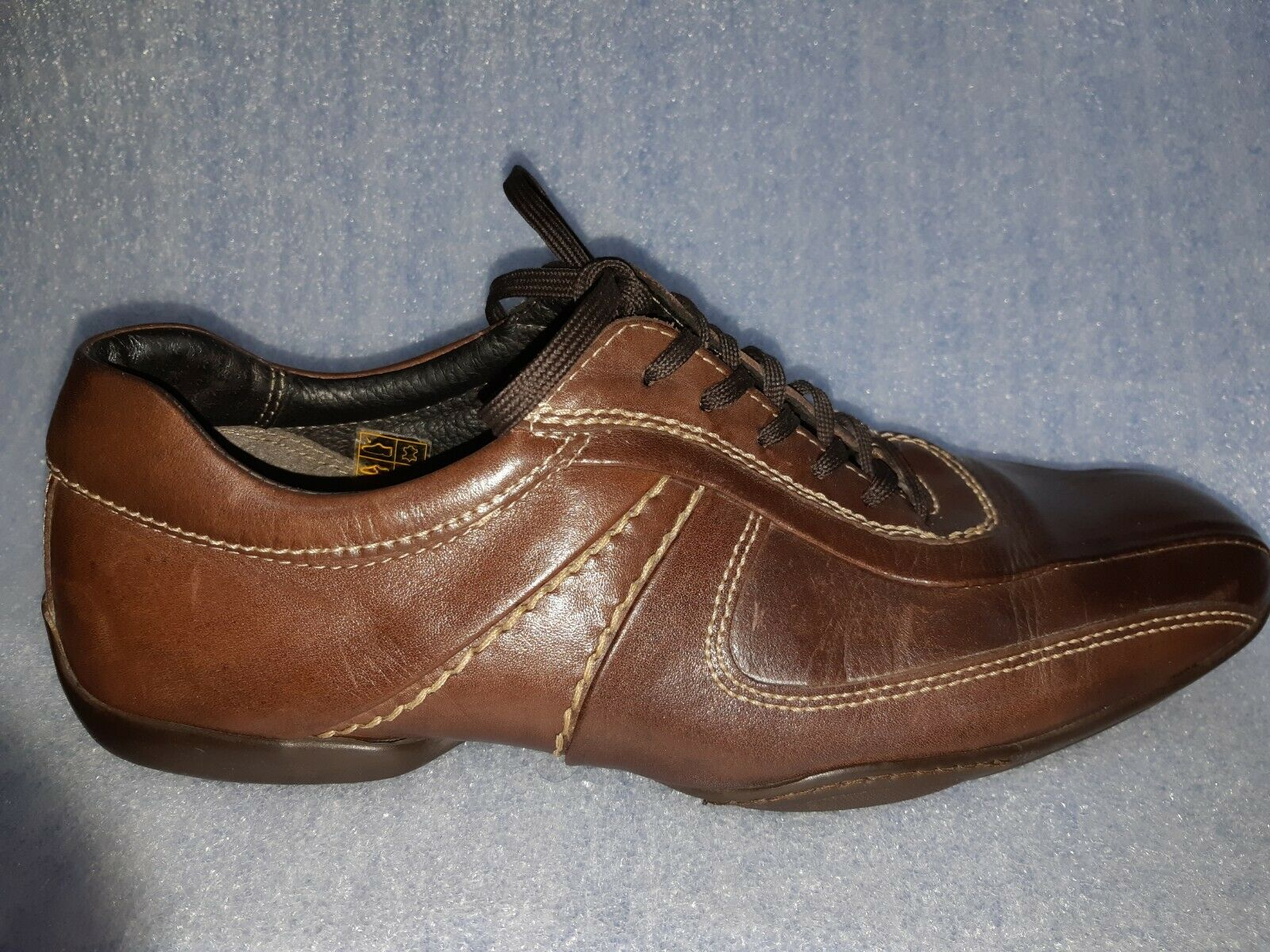 Carven Paris France mens scarpe  Marroneee pizzi su Snickers Dimensione EUR 43 US 10.  vendita scontata online di factory outlet