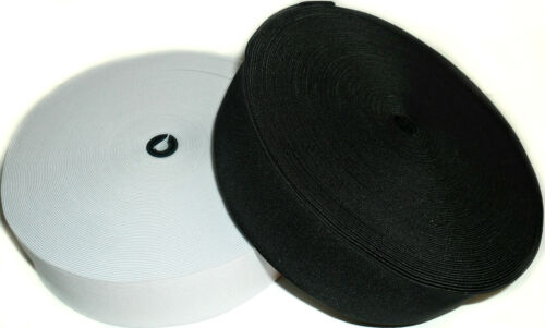 3 INCH 75MM WIDE BLACK OR WHITE /& DIFF LENGTHS HIGH QUALITY WOVEN ELASTIC