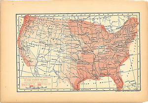 Original 1902 Print Antique Map Relative Humidity In Usdodd Mead - Us-humidity-map