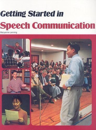 Getting Started in Speech Communication, Lenning, Maryanne, Good Book
