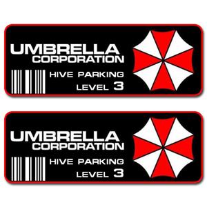 Umbrella-Corporation-Hive-Parking-Level-3-Resident-Evil-Vinyl-Sticker-Car-Decal