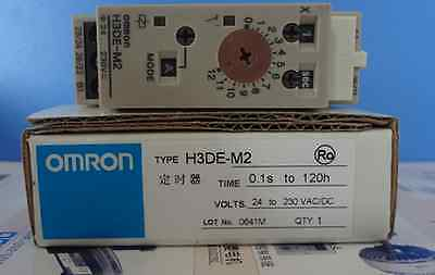 1PCS OMRON Time Relay H3DE-M2 24-230V New In Box