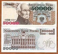 Poland, 50000 (50,000) Zlotych, 1993, P-159, UNC